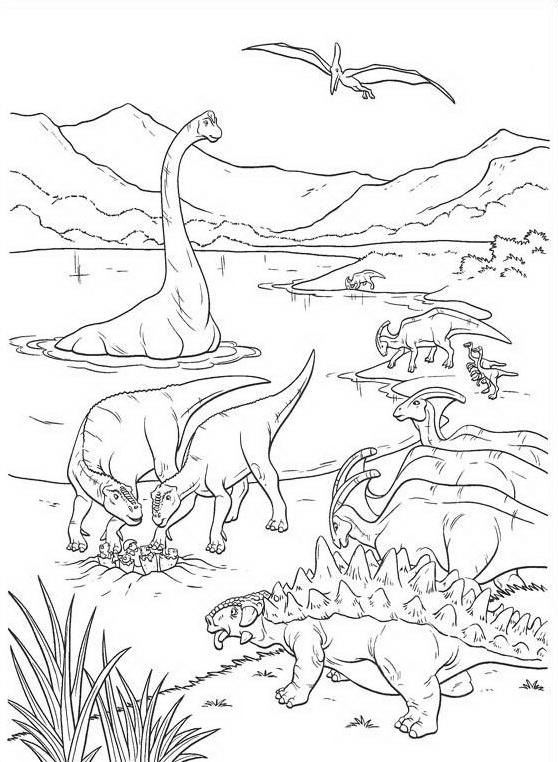 Dinosauro da colorare 103