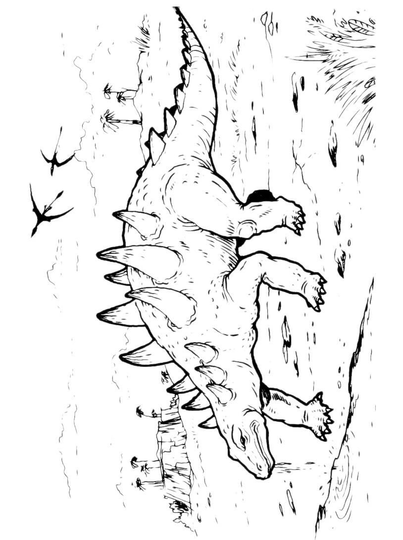 Dinosauro da colorare 112