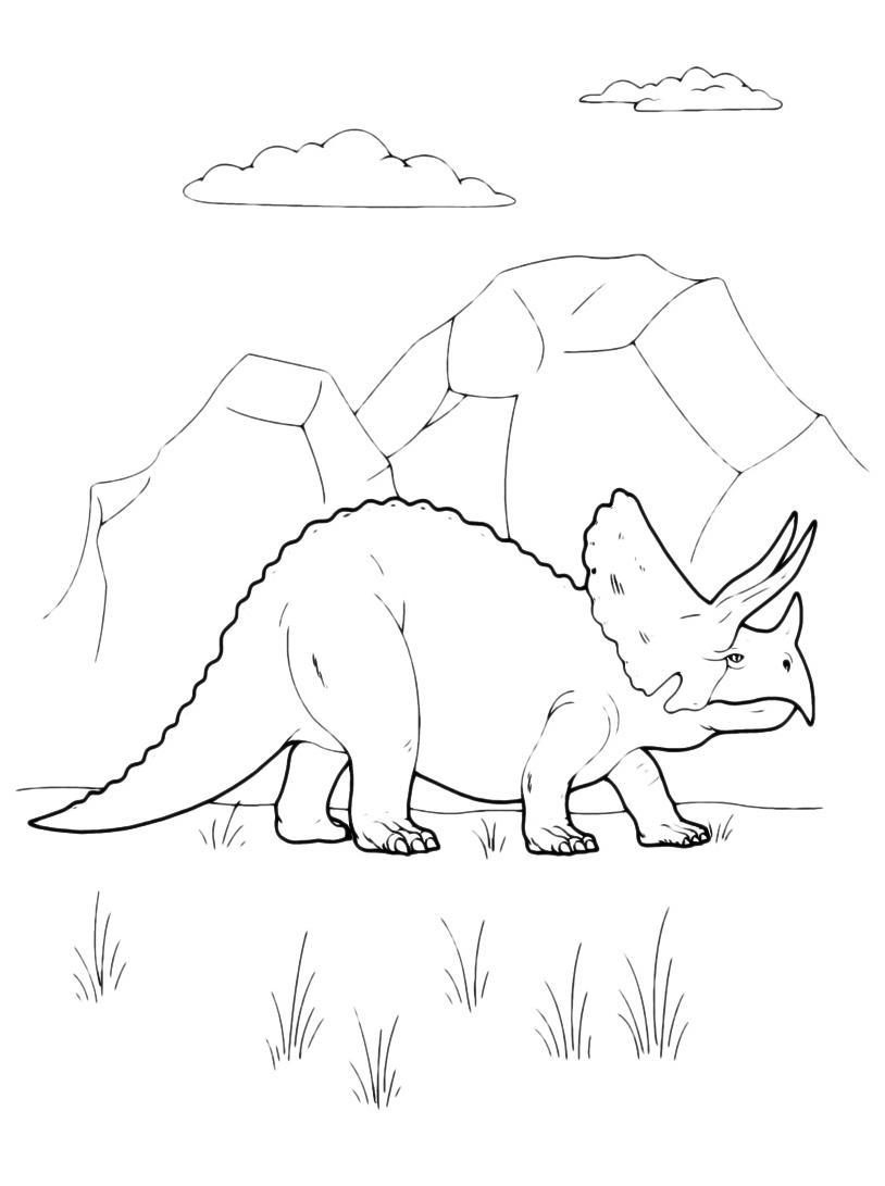 Dinosauro da colorare 125