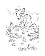 Bambi da colorare 154