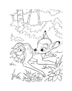 Bambi da colorare 156