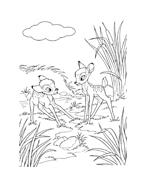 Bambi da colorare 161