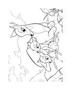 Bambi da colorare 166
