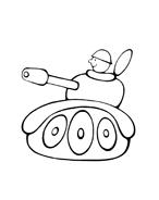 Carro armato da colorare 15