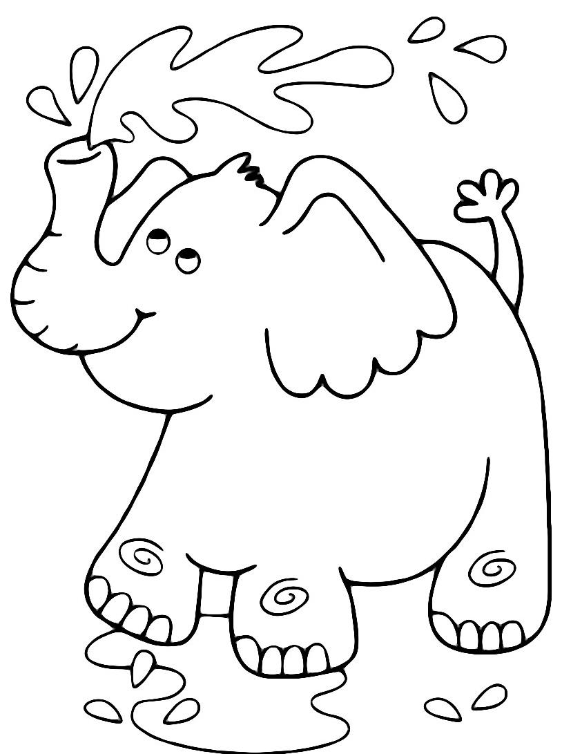 Elefante da colorare 2