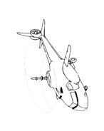 Elicottero da colorare 13