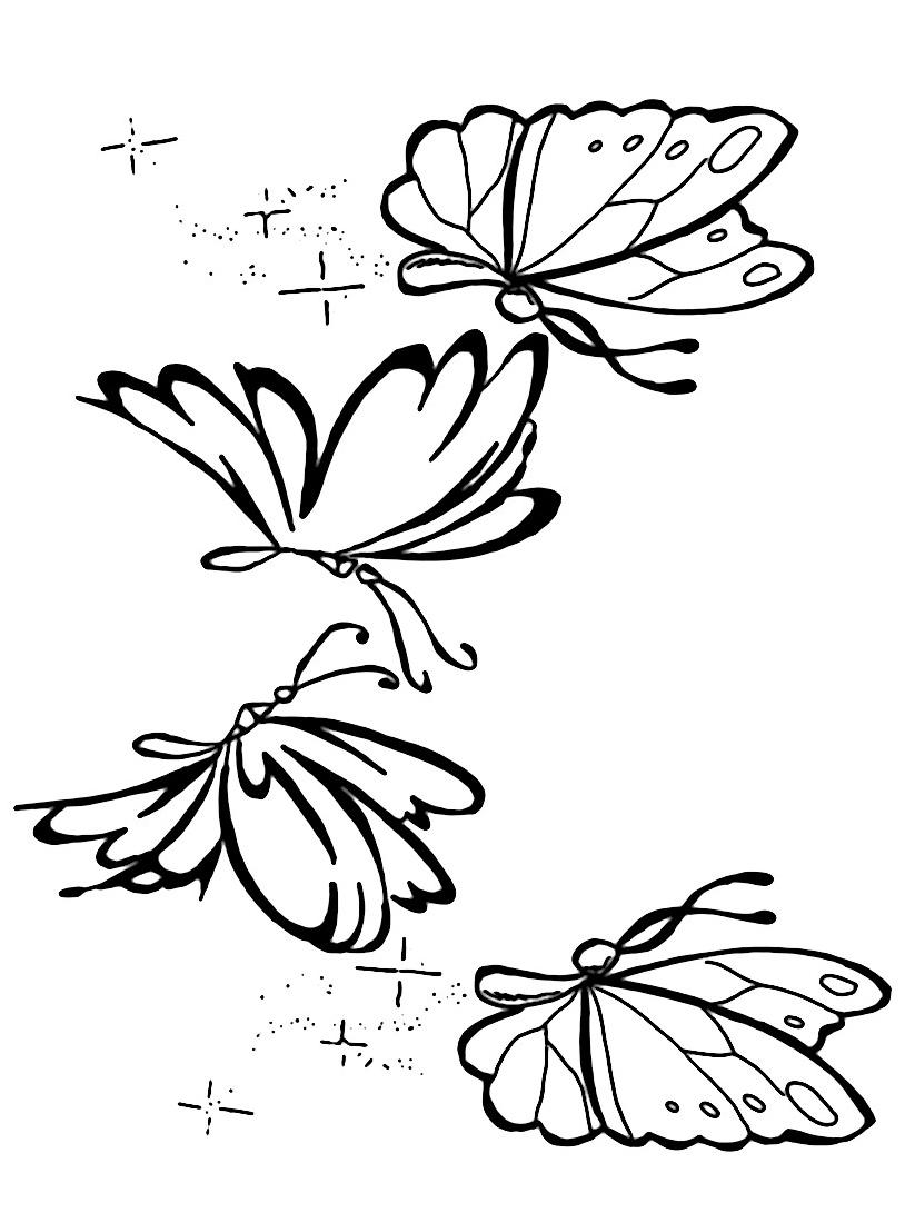 Farfalla da colorare 7