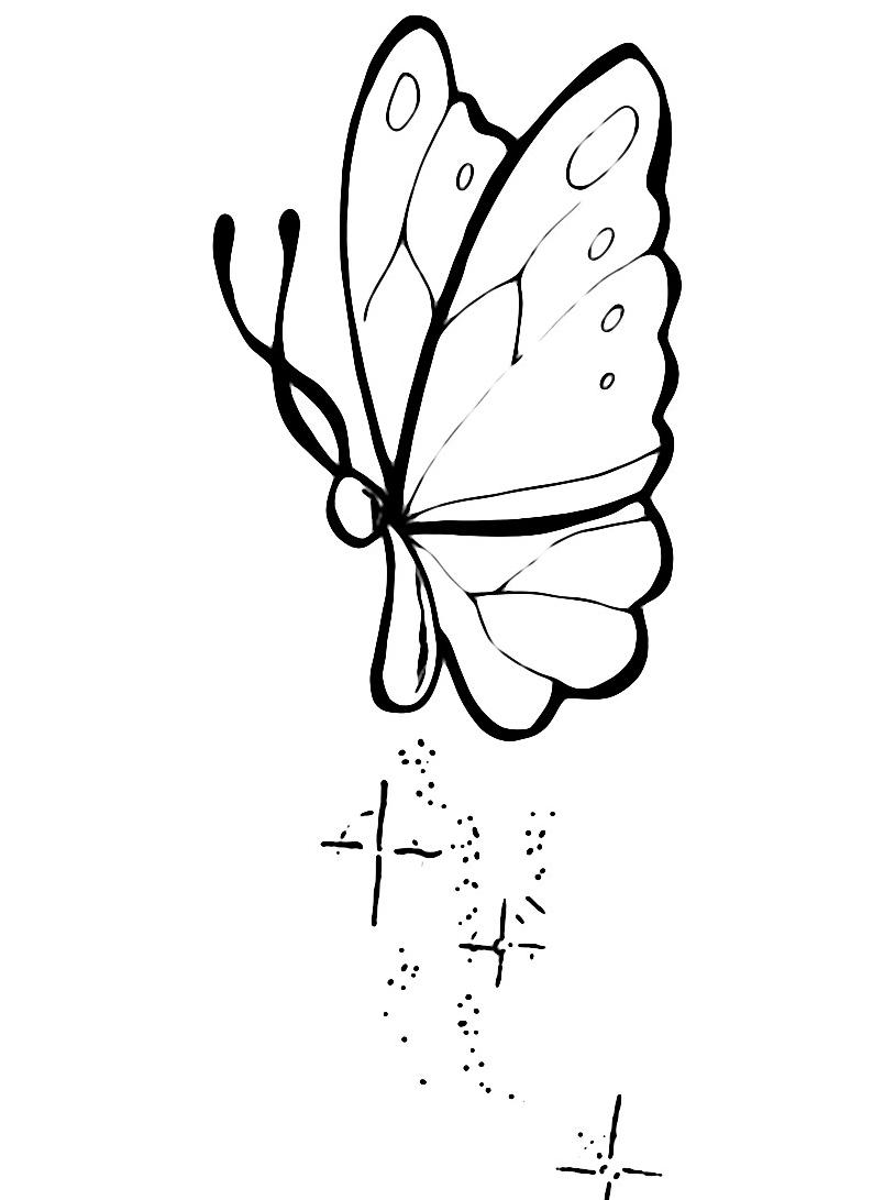 Farfalla da colorare 9