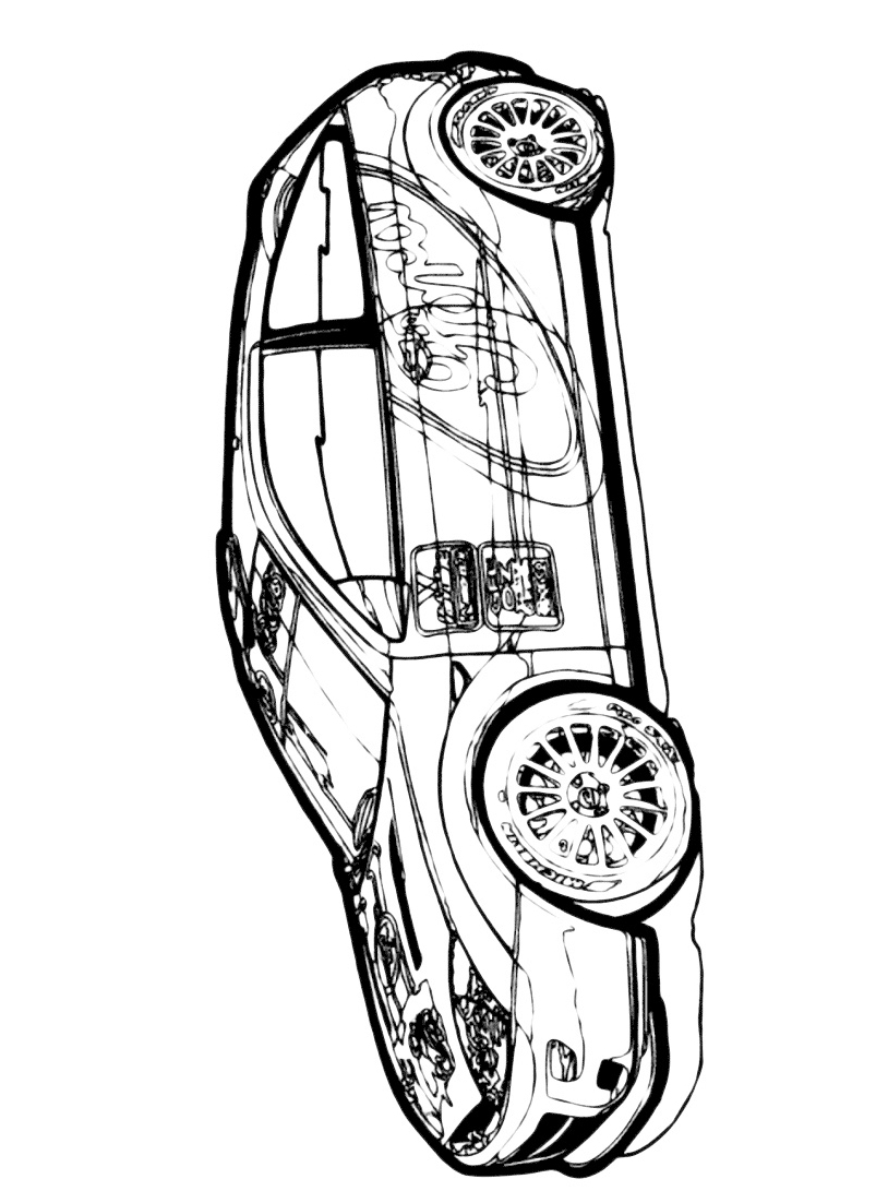 Auto da corsa da colorare 5