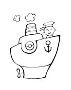 Nave e barca da colorare 46