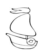 Nave e barca da colorare 48