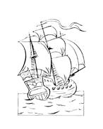 Nave e barca da colorare 52