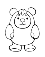 Orso da colorare 23