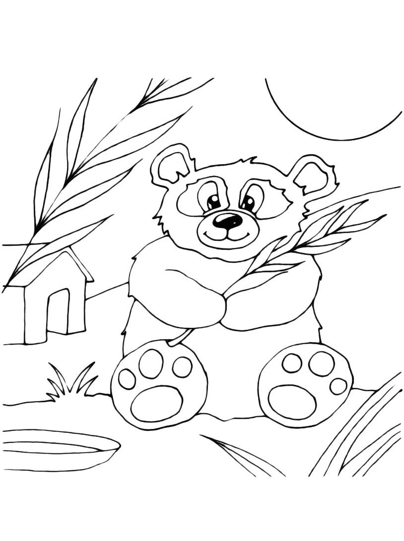 Panda da colorare 3