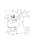 Panda da colorare 4