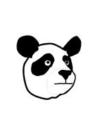 Panda da colorare 5