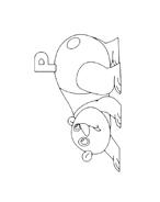 Panda da colorare 7