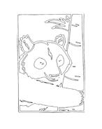 Panda da colorare 9