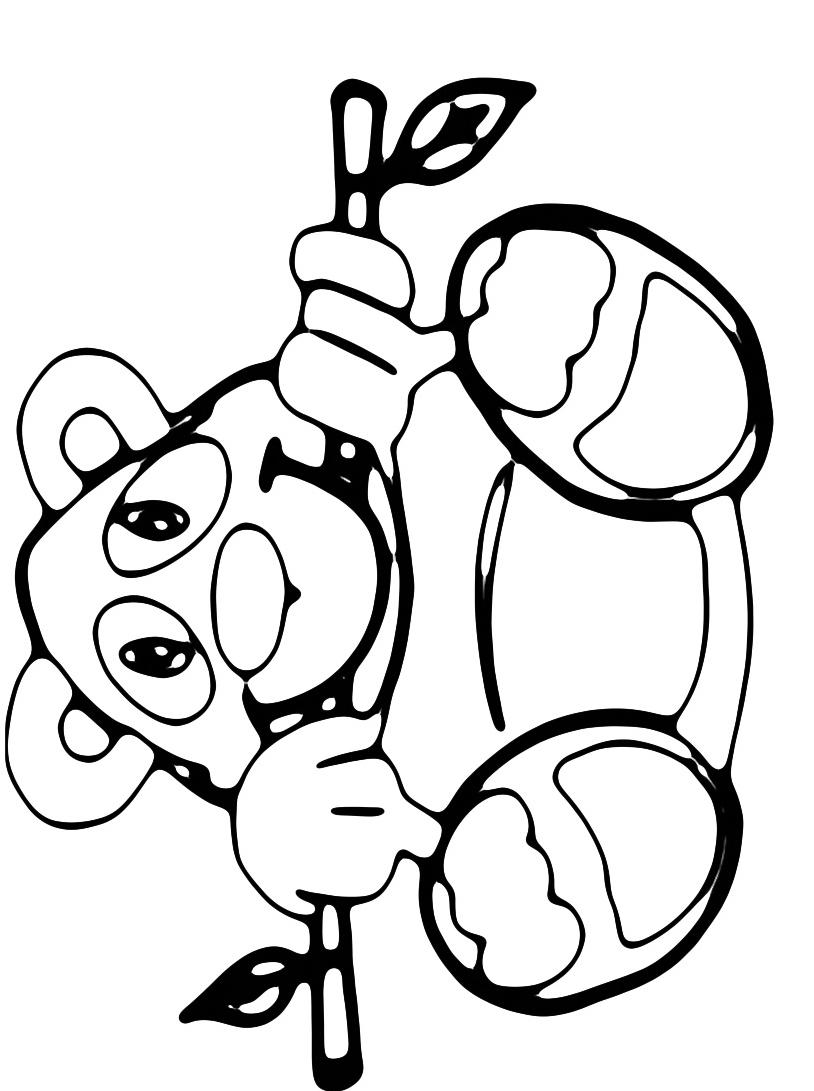 Panda da colorare 11