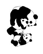 Panda da colorare 12