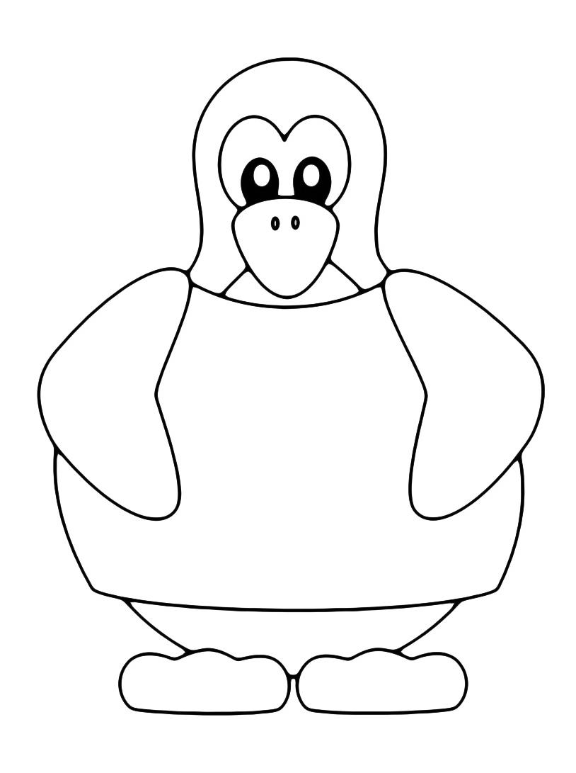 Pinguino da colorare 14