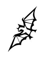 Pipistrello da colorare 2