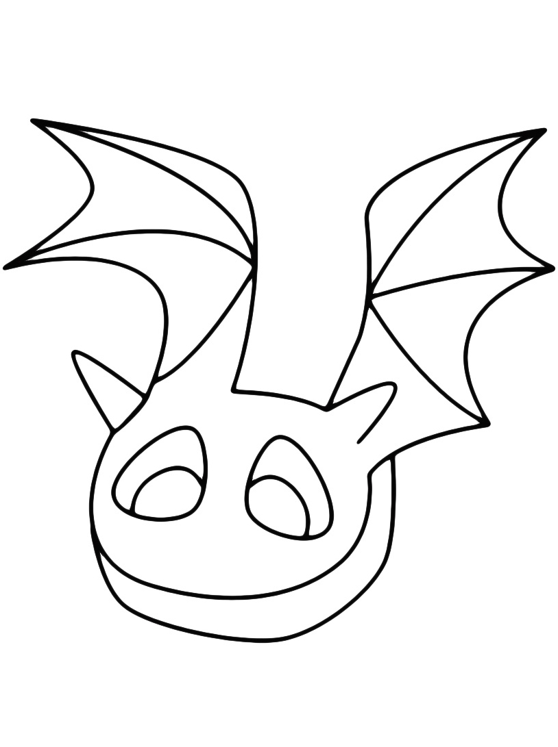 Pipistrello da colorare 3