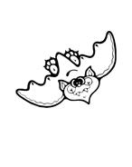 Pipistrello da colorare 11
