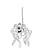 Ragno da colorare 13