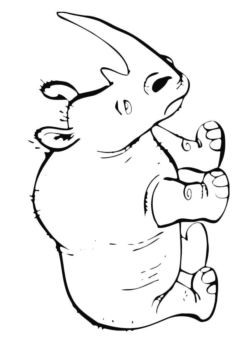 Rinoceronte da colorare 2