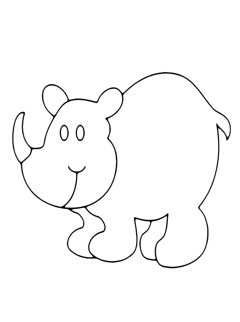 Rinoceronte da colorare 4