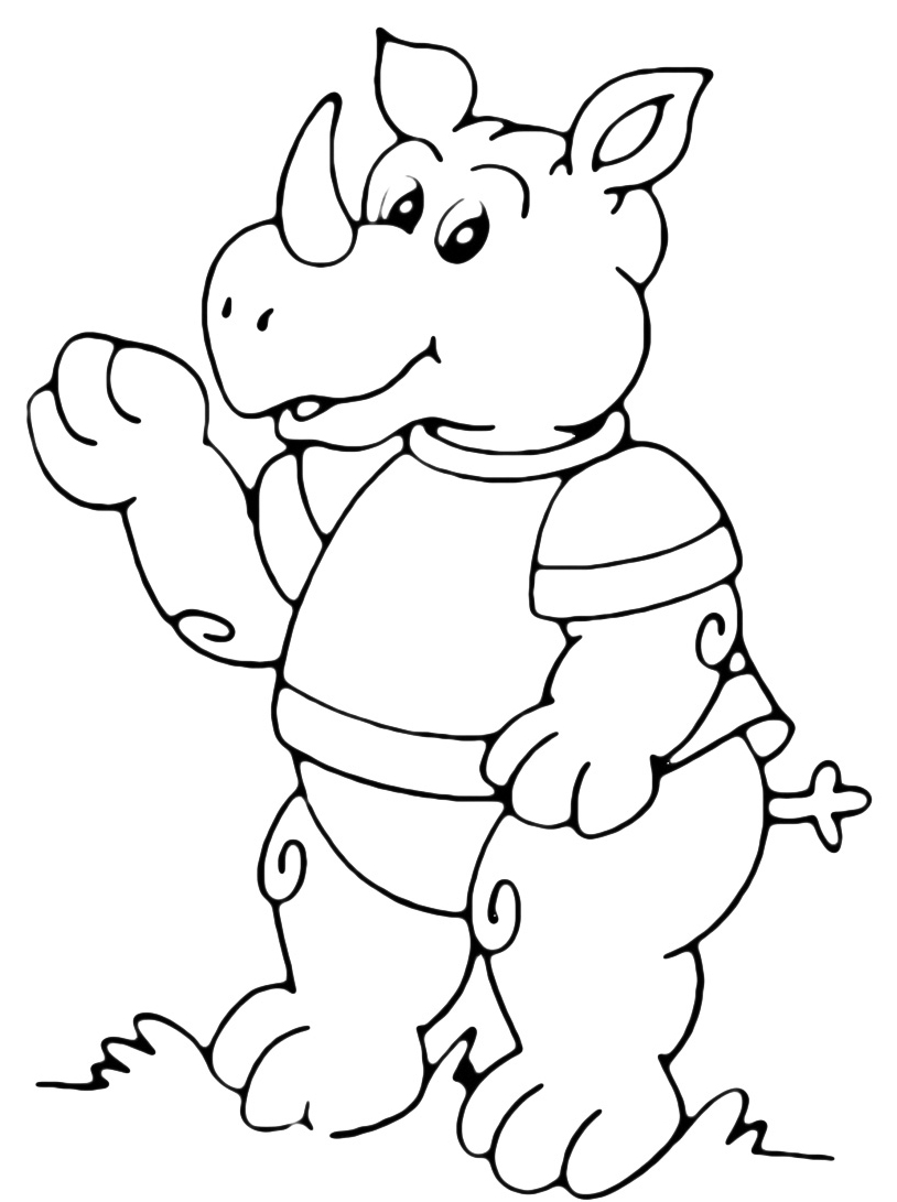 Rinoceronte da colorare 5