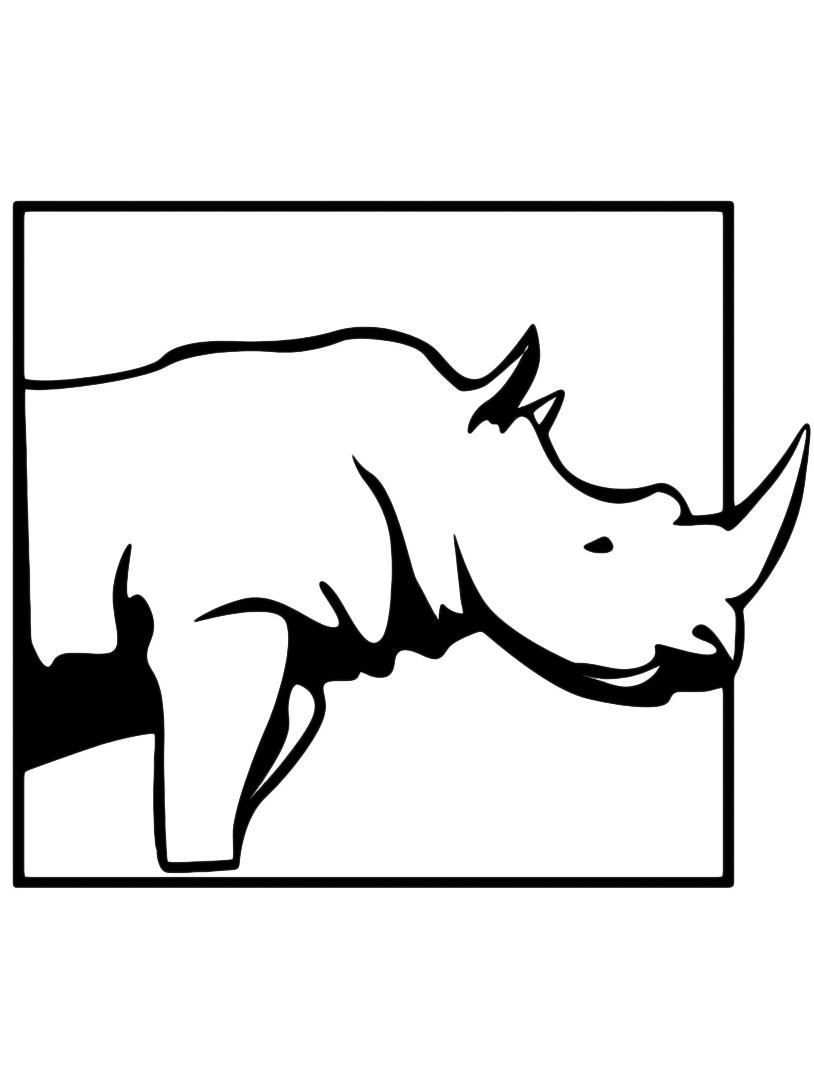 Rinoceronte da colorare 9