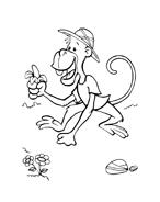 Scimmia da colorare 9