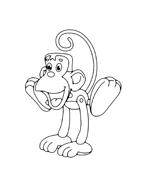 Scimmia da colorare 18