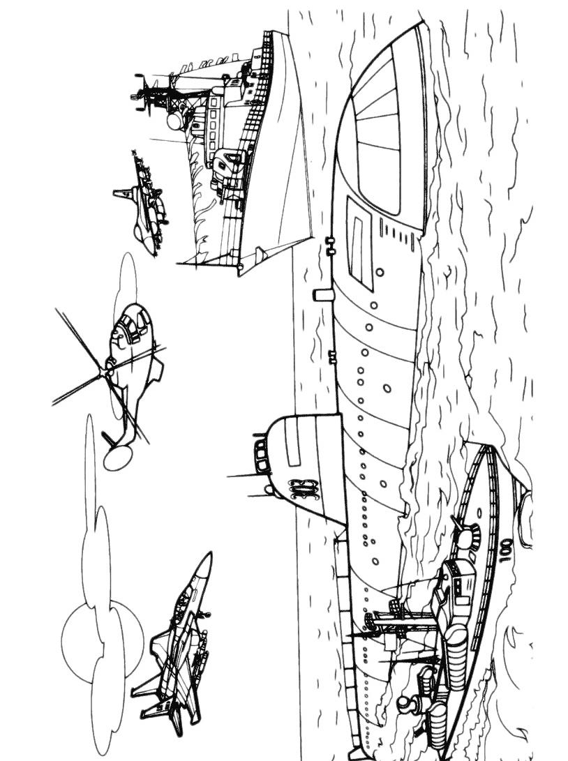 Sottomarino da colorare 7