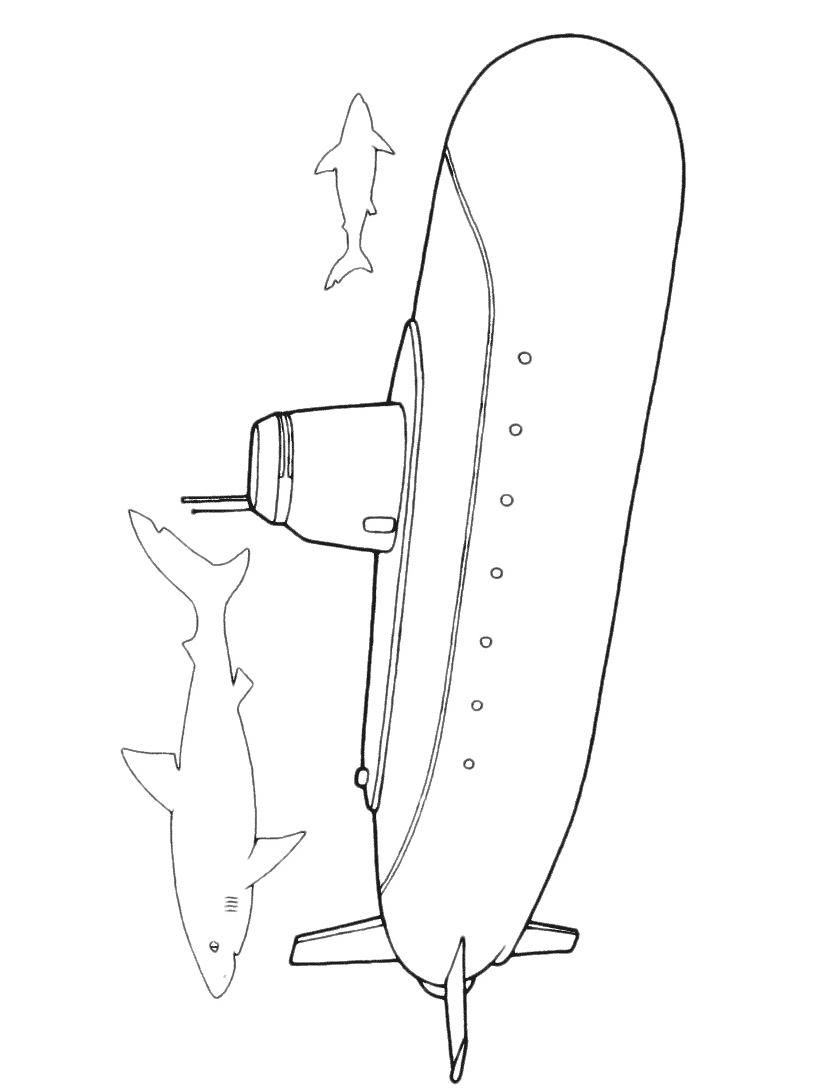 Sottomarino da colorare 11