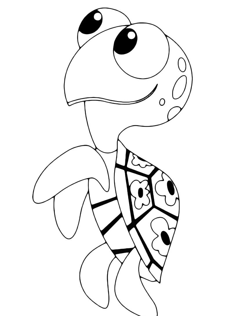 Tartaruga da colorare 4