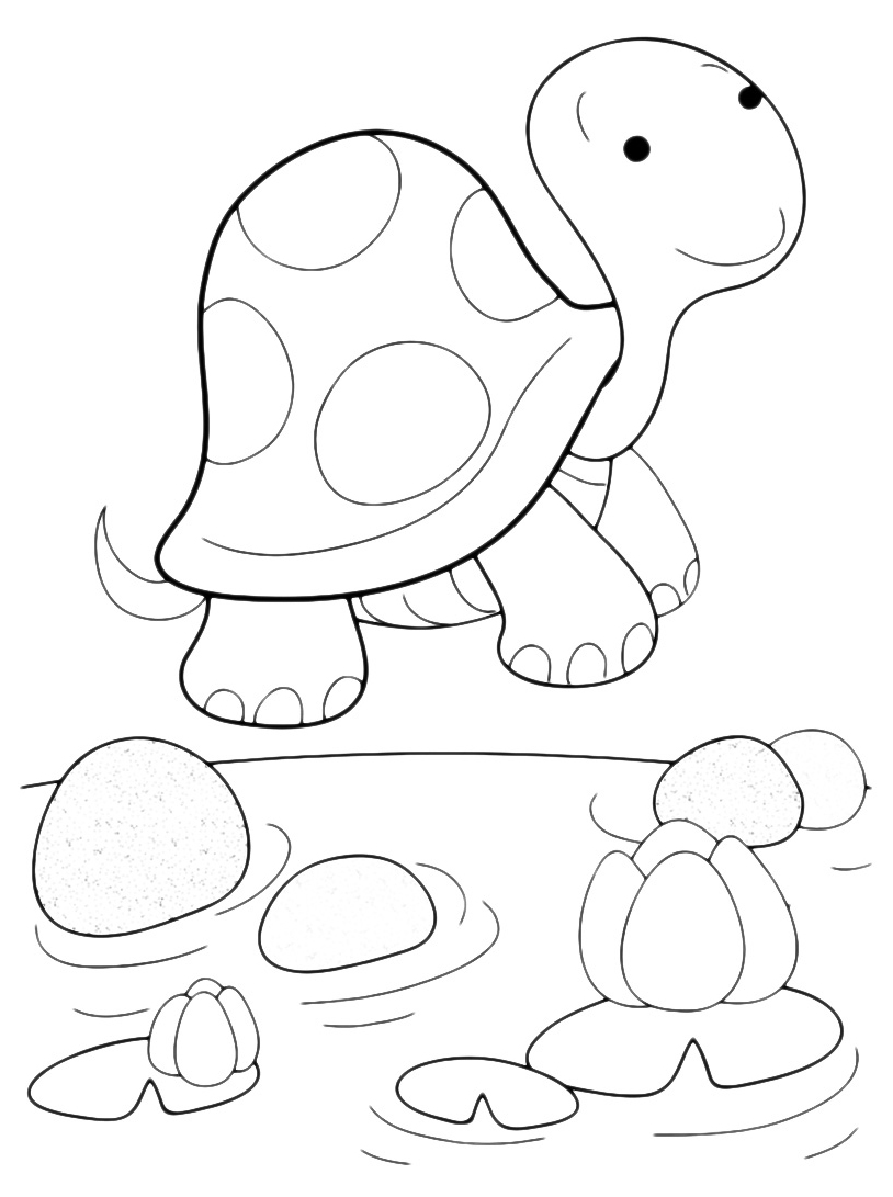 Tartaruga da colorare 16
