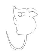 Topo da colorare 8