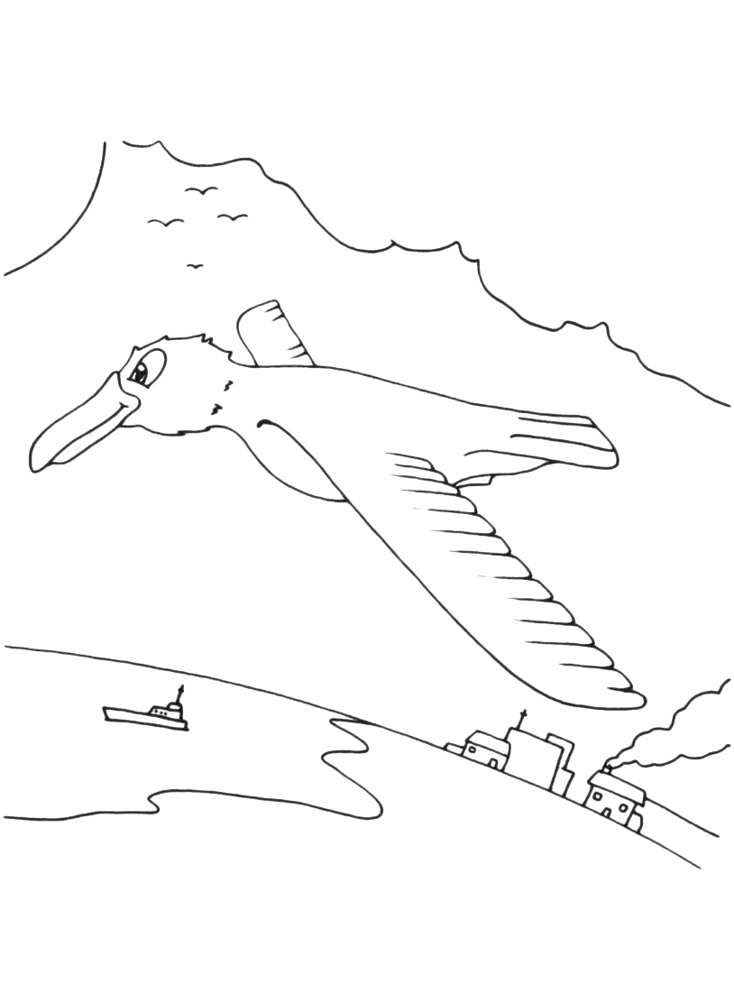 Uccello da colorare 91
