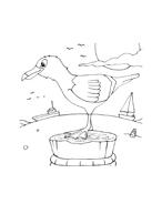 Uccello da colorare 92