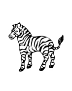 Zebra da colorare 3