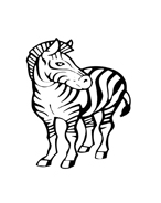 Zebra da colorare 5