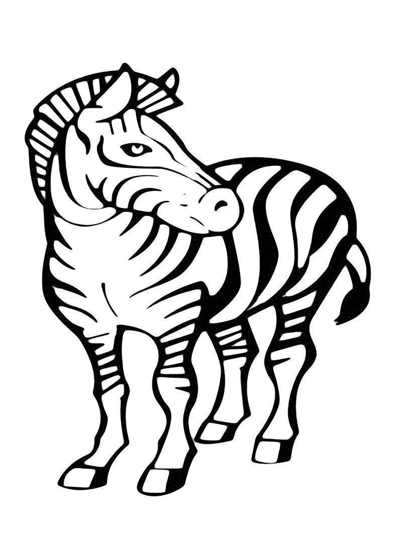 Zebra da colorare 5
