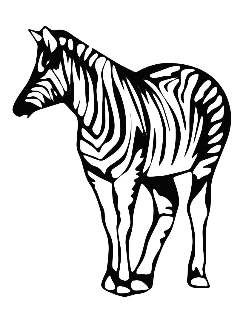 Zebra da colorare 7