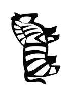 Zebra da colorare 10
