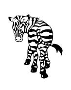 Zebra da colorare 12
