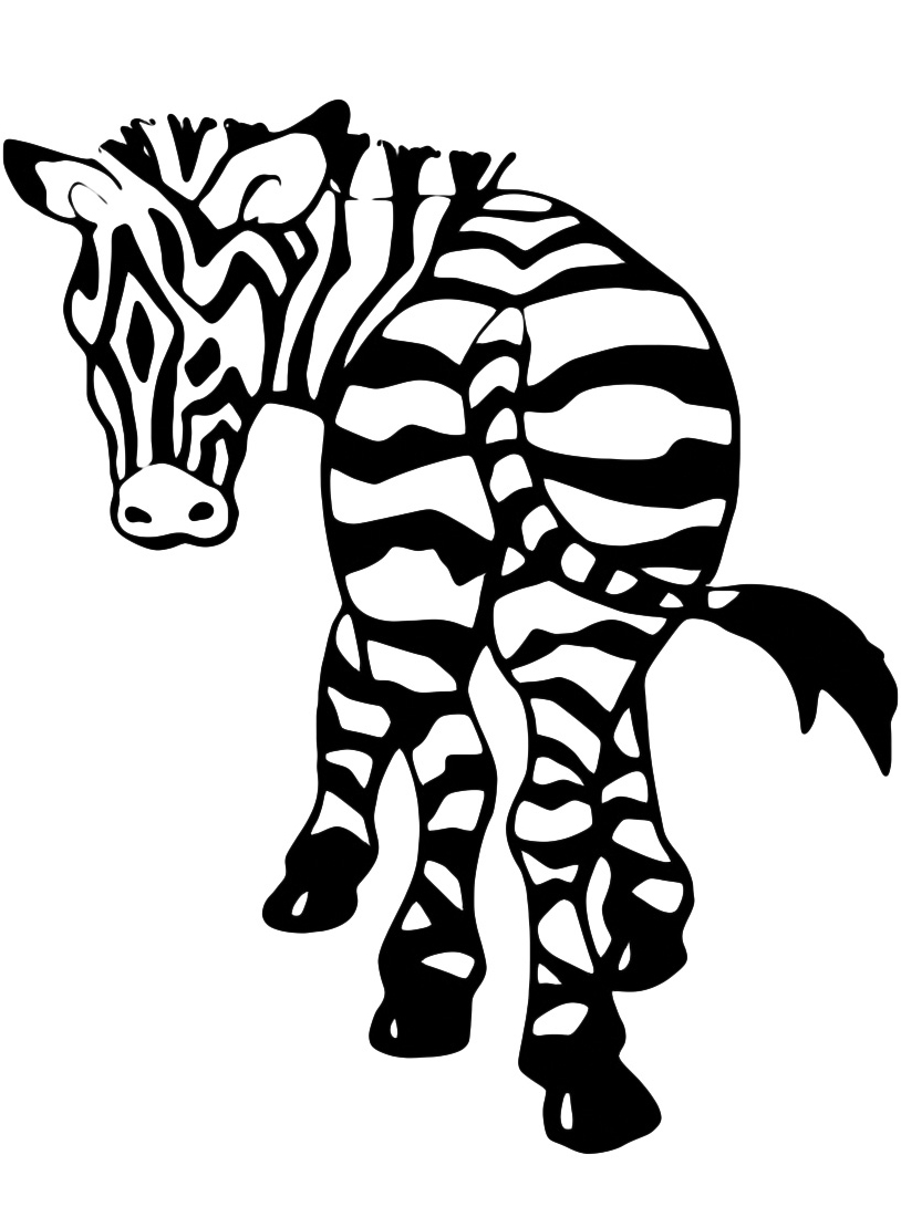 Zebra da colorare 12