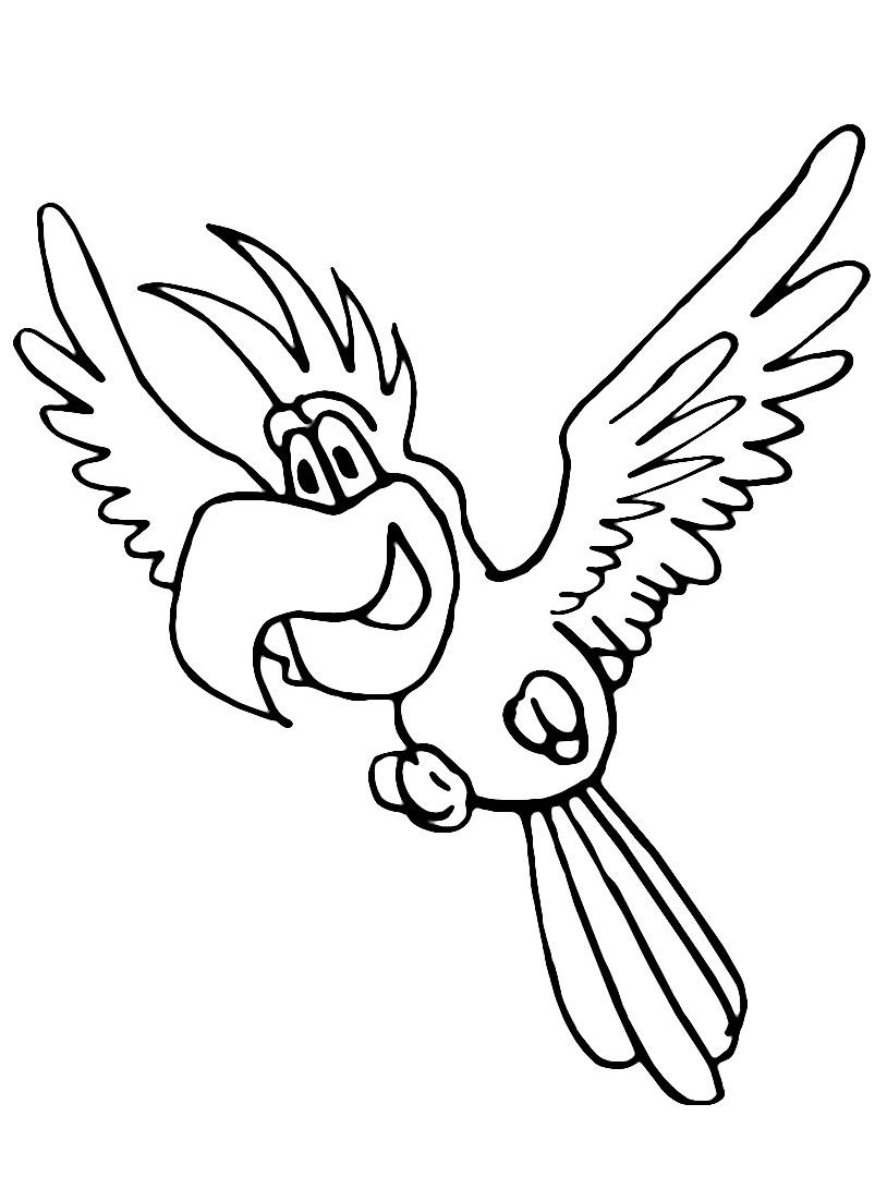Uccello da colorare 125